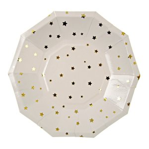 Gold Star Pattern Plates