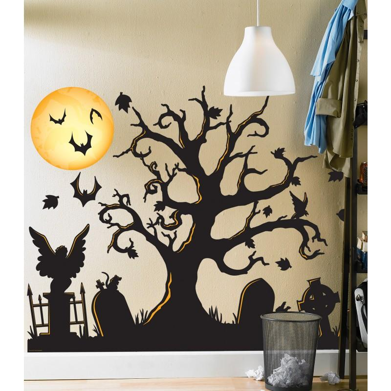 Spooky Halloween Party Party Themes PartyIdeaProscom - Scary Halloween Wall Decor