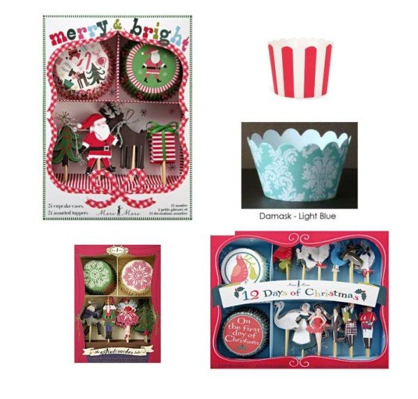 Holiday Cupcake Wrappers, Cheap Chic Holiday Gifts - Cupcakes in a Glass Bell Jar