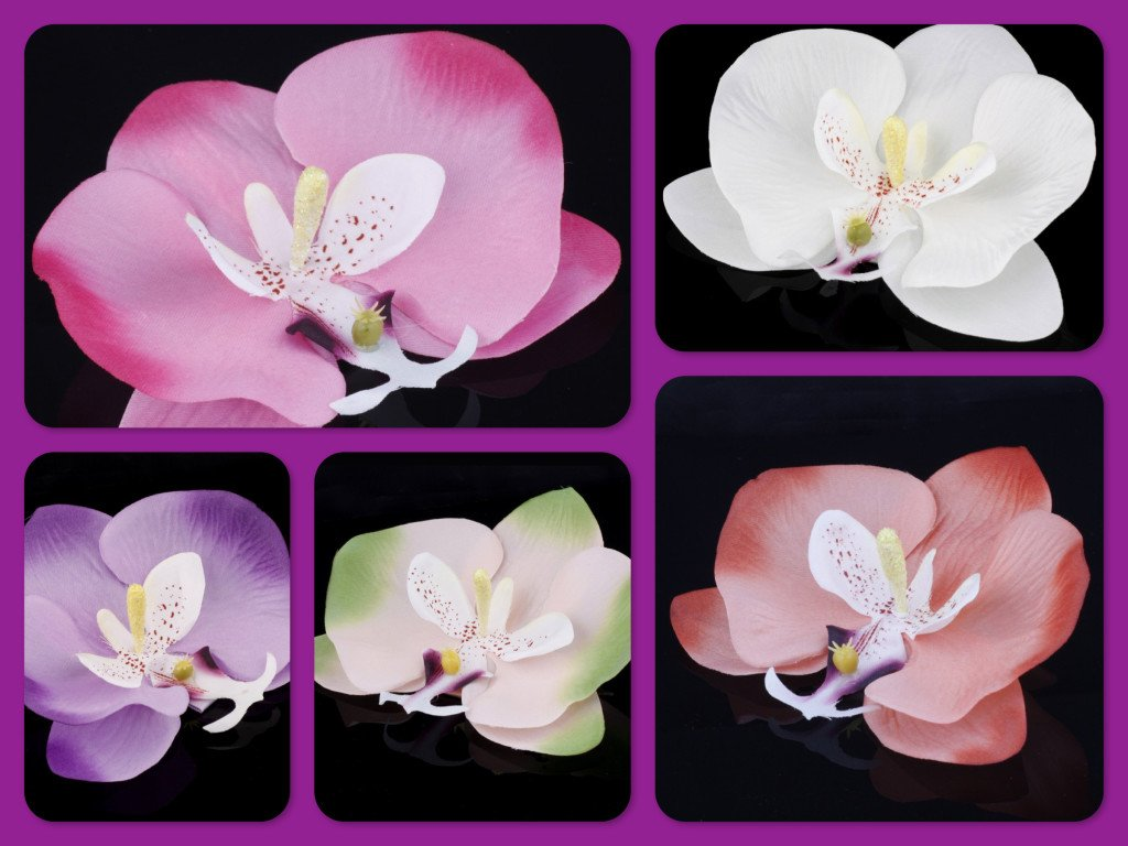 Orchid Hair Pins