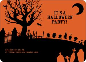 Spooky Cemetery Halloween Party