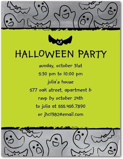 Spooky Doodle Halloween Invite