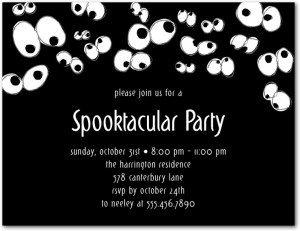 Spooky Eyes Halloween Invite