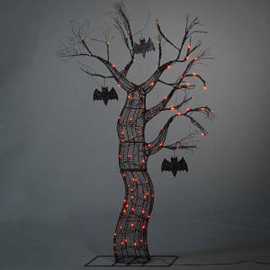 Spooky Lit Halloween Tree