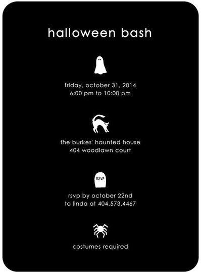 Spooky Sights Halloween Invite
