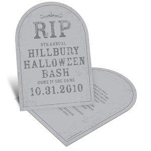 Spooky Tombstone – Unique Halloween Party Invitation
