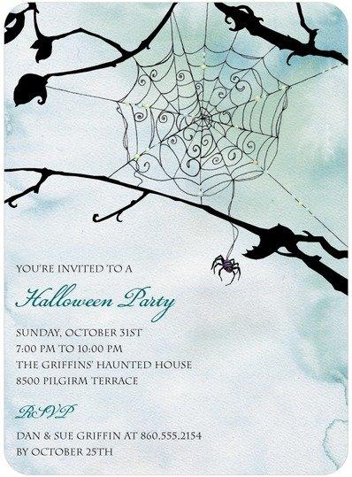 Spooky Web Halloween Party Invitations