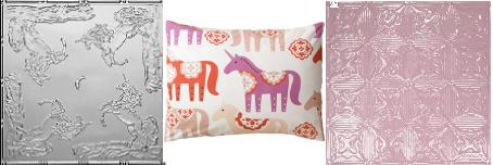 Playful Unicorns DIY Tin Tile Headboard