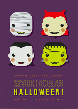 spooky costumes halloween cards
