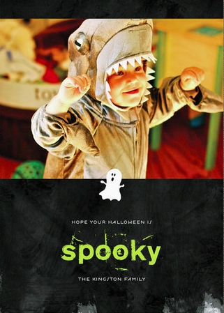 spooky ghost halloween cards