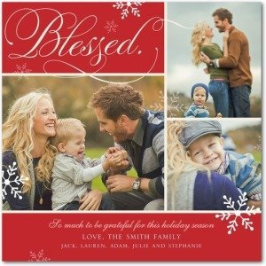 BLESSED FLOURISH Holiday Cards