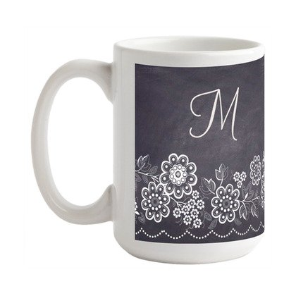 Teacher Holiday Gift Idea - Chalkboard Blossoms Mug