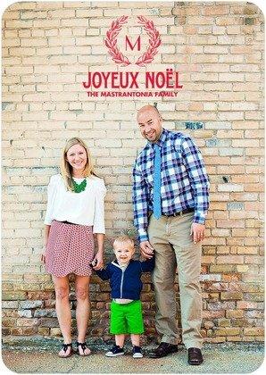 Christmas Cards Noel Monogram