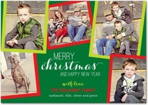 Christmas Cards Pop of Color