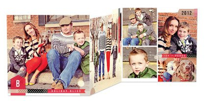 Christmas Cards Taped Memento, holiday cards, photo cards