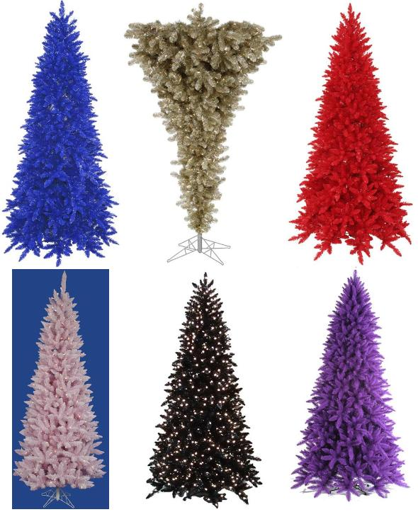 Colorful Commercial Christmas Trees