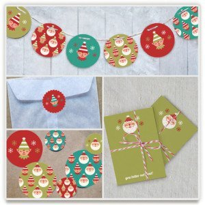 Happy Santa Party Decor, Indie-Designed Holiday Party Decor
