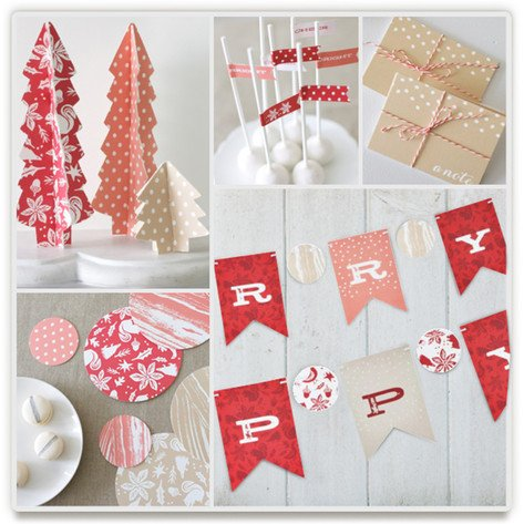 Pastoral Noel Holiday Party Decorations, Indie-Designed Holiday Party Decor