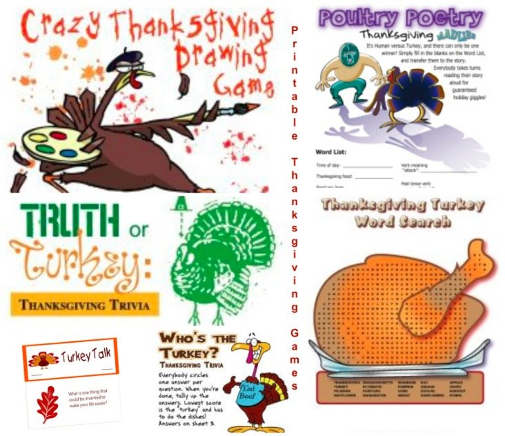 Printable Thanksgiving Games & Activities