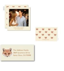 Tory Burch Foxy Holiday Cards
