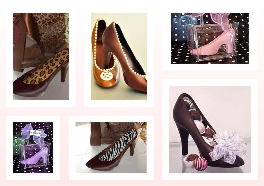 how to make a chocolate high heel shoe