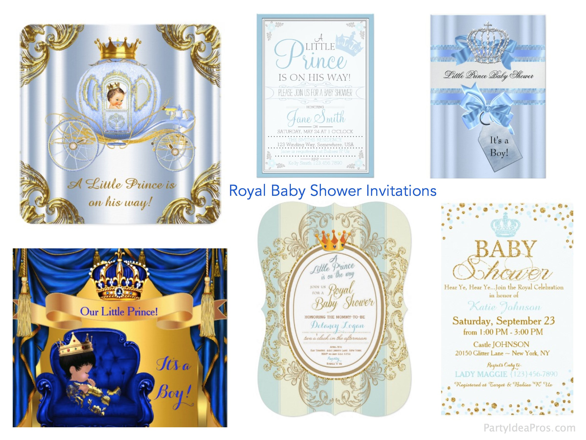 Royal Baby Shower Invitations