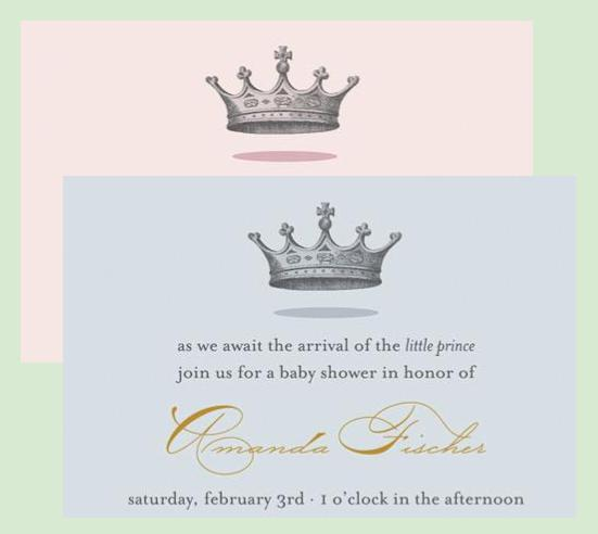 royal themed baby shower invitations