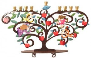 Tree of Life Menorah by Karen Rossi