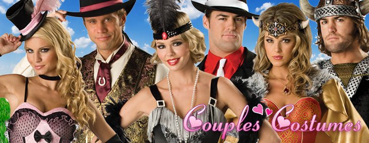 Couples Costumes, Valentine's Day Party - Couples Costume Ideas