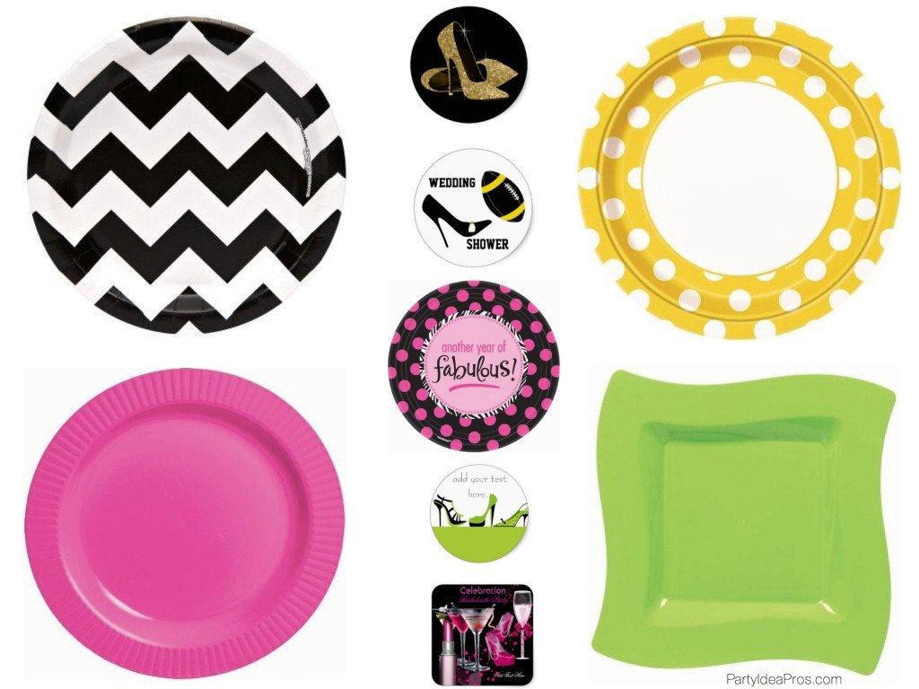 DIY Shoe Theme Paper Plates