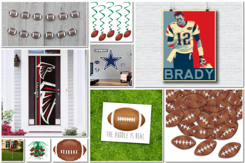 Football Theme Decor & Party Supplies