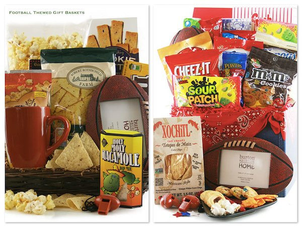 Football Themed Gift Baskets, Football Party Food