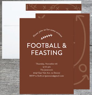 Football and Feasting Party Invitations