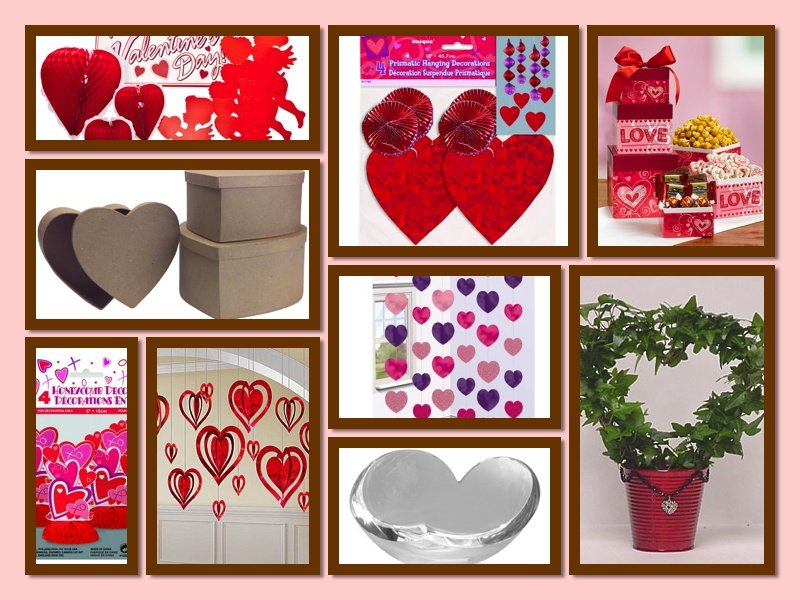 Festive hearts heart themed party decor romantic party for Heart decoration ideas