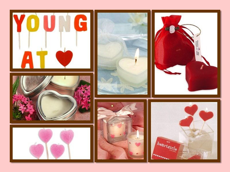 Heart Theme Party  Gifts Candles