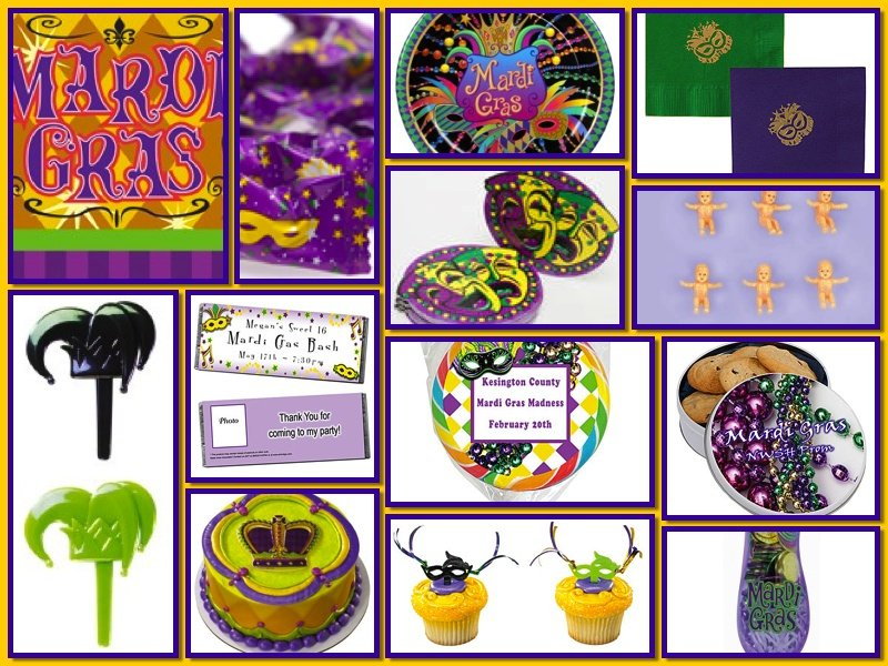 Mardi Gras Theme Food and Drink