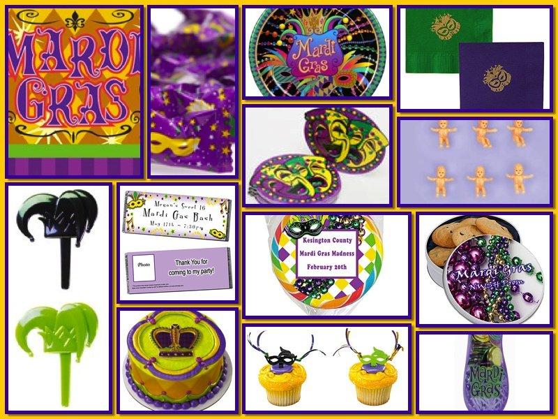 Mardi Gras Theme Food and Drink