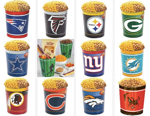 NFL Popcorn Tins, Football Party Food