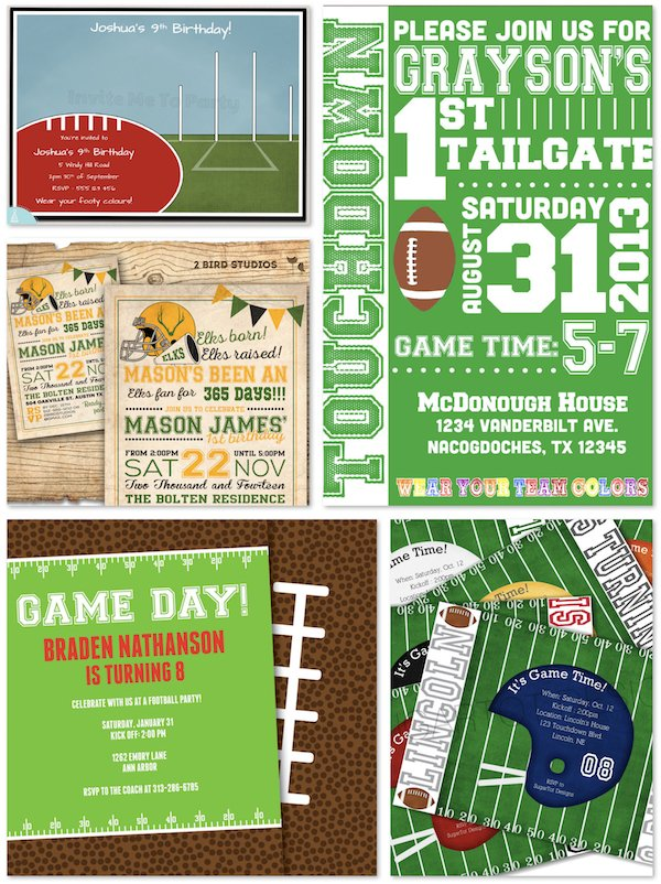 Printable Football Party Invitations