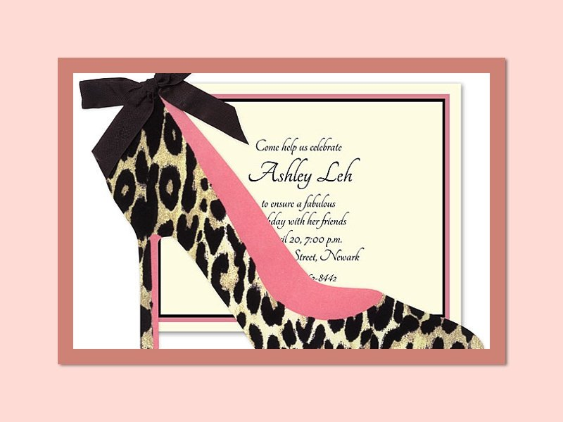 Shoe Lover\'s Theme Invitations and Stamps