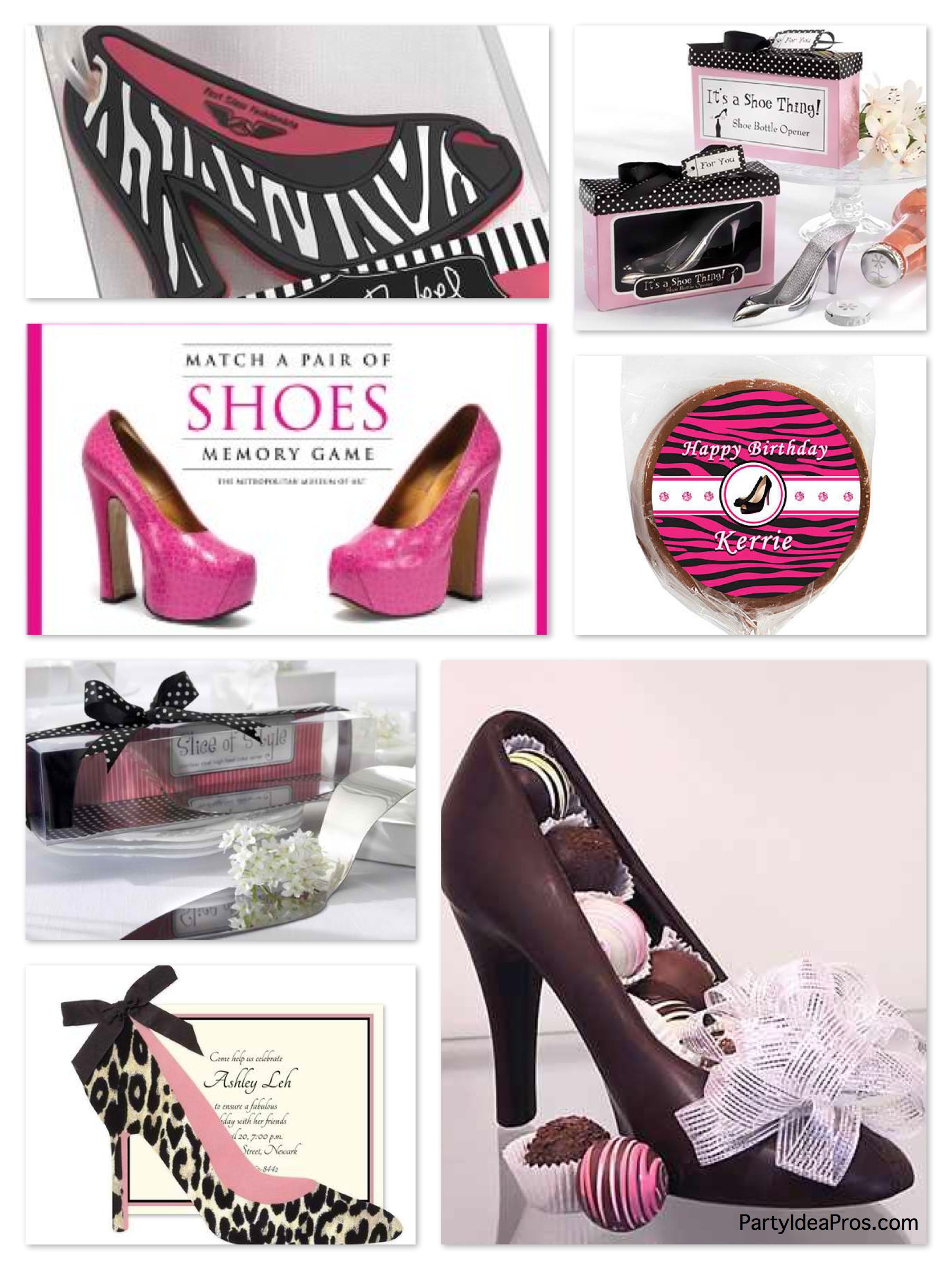 shoe lovers theme party inspiration planning ideas supplies