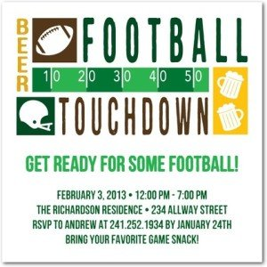 Touchdown Time Party Invitations