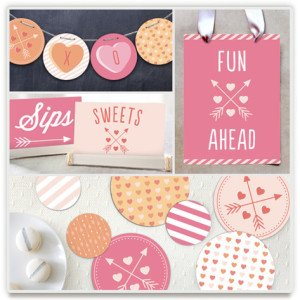 Valentine's Day Conversation Heart Party Kit, Valentines Day Party Kits