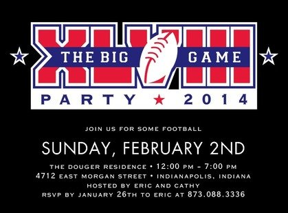 XLVIII Super Bowl Invitation