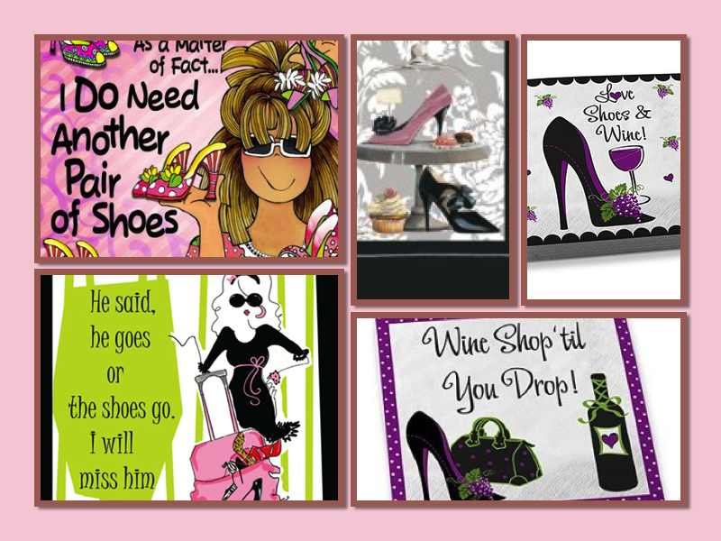 High Heel Stiletto Shoe Cocktail Napkins