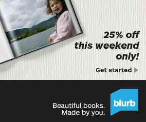 Blurb Photo Books 25% Off Flash Sale