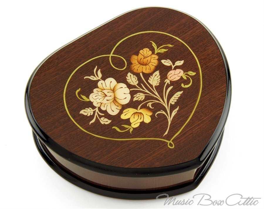 Love in a (Music) Box  - Heart Shaped Music Jewelry Box