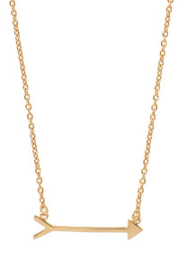 Gold Stella & Dot On the Mark Arrow Necklace