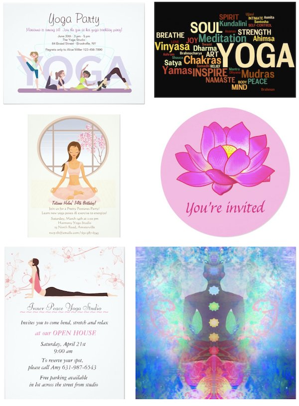 Yoga Party Invitations