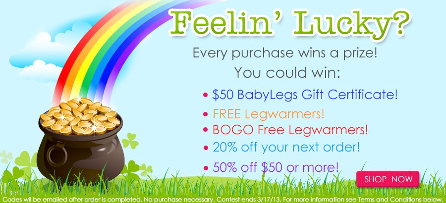 BabyLegs Feeling Lucky Contest